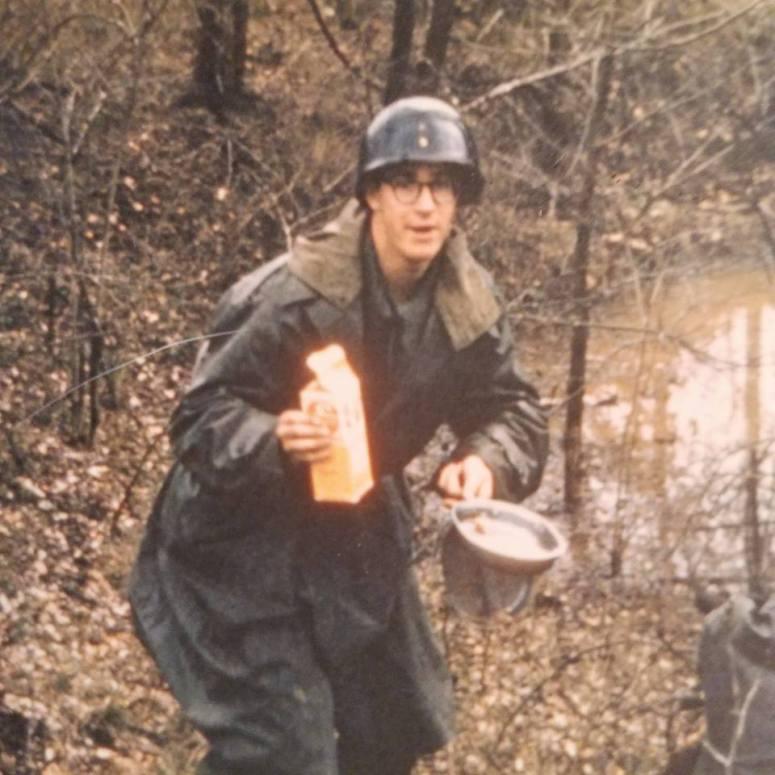 Dad soldier